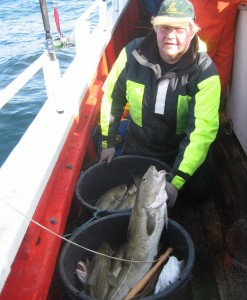Lasse med torsk fra revet
