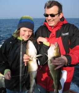 Laura fik et par pæne torsk på Pip